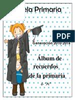 Album de Recuerdos 6 Grado Formato
