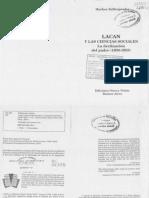 320031823 Zafiropoulos M Lacan y Las Ciencias Sociales La Declinacion Del Padre PDF