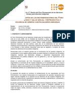 UNPFII17 UNFPA CHIRAPAQ Evento Paralelo Nota Conceptual