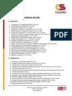 Listado de Charlas HSE Del Proyecto  - Enero2015 Al Marzo2016