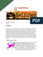 Historia y Origen Del Hallowen