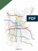 Mapa del metro CDMX 2018