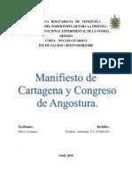 Congreso de Angostura y Manifiesto de Cartagena