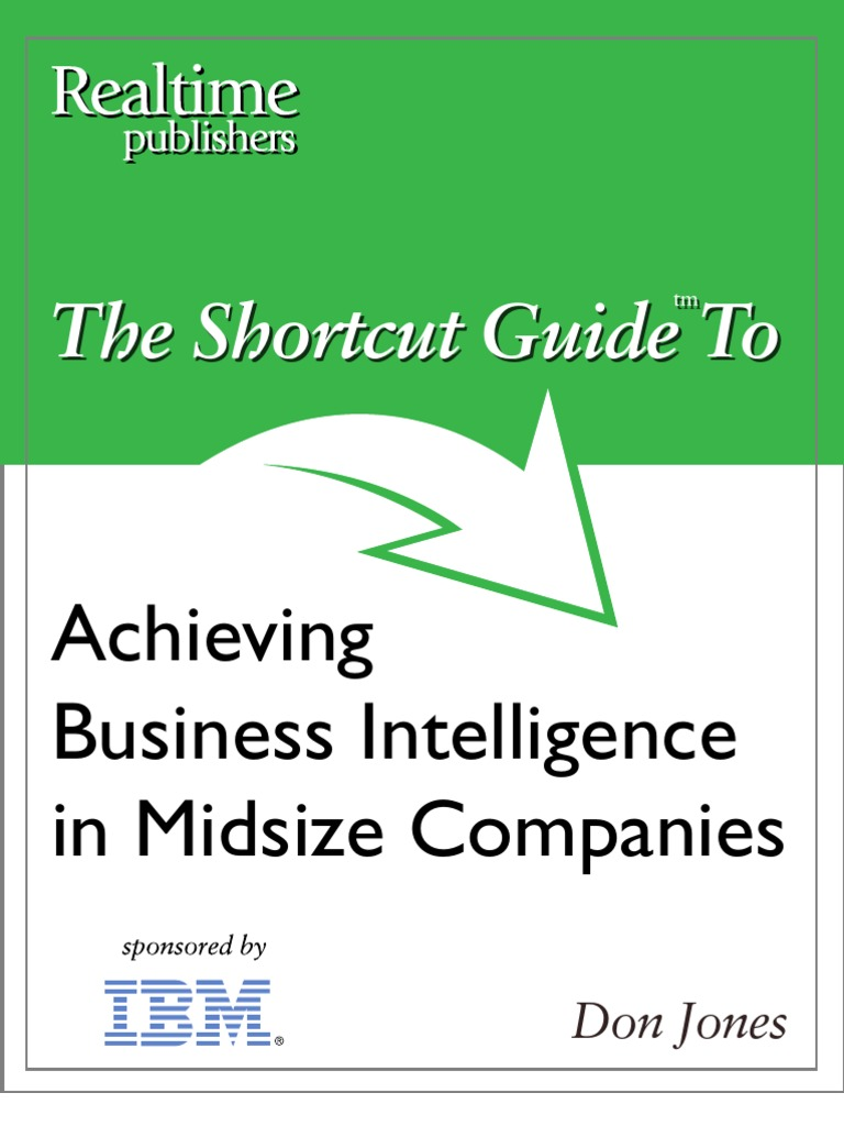 Bk Shortcut Guide Achieving Business Intelligence In