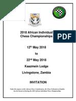 2018 African Individual Chess Championships Invitation