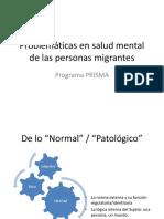 Problemáticas en salud mental de las personas migrantes