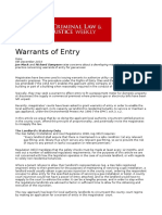 Warrants of Entry