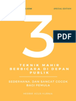 3 Teknik Mahir Public Speaking