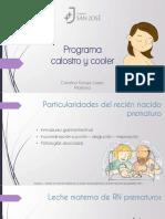 Programa Calostro y Cooler 2018