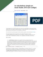 CREAR CALCULADORA EN VISUAL STUDIO