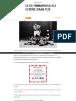 Http Persuasum Com 20 Frases de Muhammad Ali Que Te Potenciaran Tus Animos