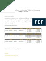 Capacitación CURSOS VIRTUALES