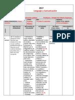 Planificación Unidad 3 Cuarto Medio