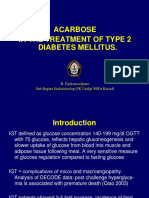 ACARBOSE in the Treatment of T2DM