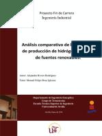 Análisis comparativo de los sistemas de producción de hidrógeno a partir de fuentes renovables. ALEJANDRA RIVERO RODRIGUE_1