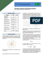 Guía 1 Superficies Equipotenciales y Relación Campo-Potencial Electrico