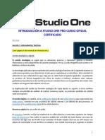 Studio One 3 Profesional Notas Clase Dia 1