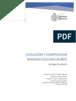 Evolución y Composición Magmas Calcoalcalinos