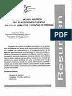 El Mercado Politico De Las Decisiones Publicas