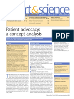 Patient Advocacy a Concept Analysis
