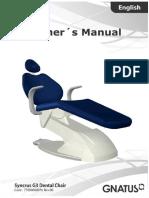 Gnatus Syncrus G3 Dental Chair - User Manual