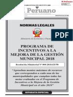 Plan de Incentivos a Todas Municipalidades