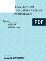 Analisis Industri n Perusahaan