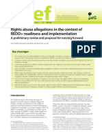 Right abuse allegations in the context of REDD+ readiness and implementation