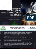 Pre Construction Meeting ( Pcm ) Pekerjaan Managemen