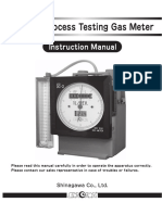 Dc Type Dry gas meter Manual