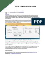 Tampilkan Data Di ListBox