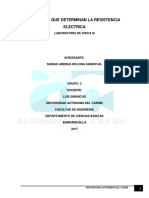 Factores Que Determinan La Resistencia Electrica