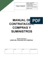 Manual de Contratación, Compras y Suministros