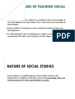 1.  Social Studies nature and aims