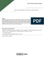 La logique intensionnelle et l'héritage de Frege en sémantique