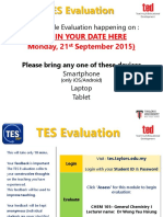 TES Student Briefing Final - Pre and During