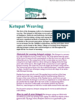 Ketupat Weaving Instructions
