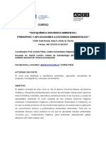 Geoquímica Orgánica Ambiental-CURSO