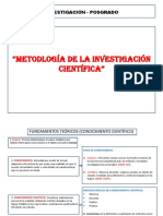 Metodología de La Investigación Científica - Posgrado