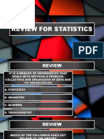Review for Statistics