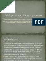 Inteligenta Sociala in Organizatii