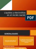 Liquidos y Electrolitos Recien Nacido