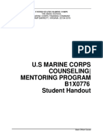 B1X0776 USMC Counseling and Mentoring Program