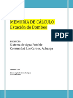 Memoria Estación de Bombeo Achuapa 2