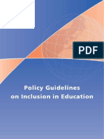 UNESCO Education Inclusion Policy Guidelines