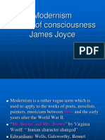 Modernism,Stream of Consciousness James Joyce