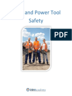 OSHAstudyguide Hand & Power Tool Safety