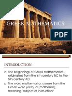 Greek Math