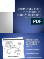 common stats in survey research