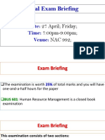 BUS 601-5 HRM Final Exam Briefing